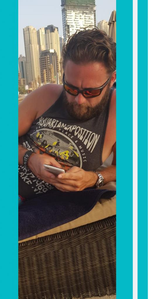 Dave on phone dubai
